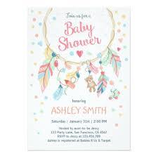 Dream Catcher Baby Shower Invitations Boho Bohemian Dreamcatcher Wedding Invitations Zazzle 4