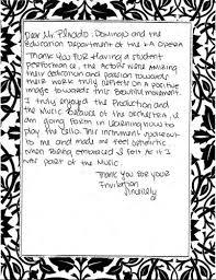 La Opera Students Art Letters Of Appreciation