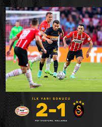 "Galatasaray SK on Twitter: ""İlk yarı sonucu: PSV Eindhoven 2-1 Galatasaray  #PSVvGS #UCL… """