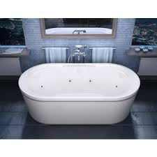 Jetted freestanding tubs Bathroom Shop Atlantis Whirlpools Royale 34 67 Oval Freestanding Whirlpool Jetted Bathtub In White Free Shipping Today Overstockcom 8930325 Overstock Shop Atlantis Whirlpools Royale 34 67 Oval Freestanding Whirlpool