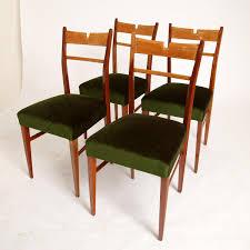 italian wood furniture. Italian Wood \u0026 Green Velvet Dining Chairs, 1950s, Set Of 4 Furniture