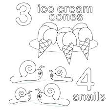 Numbers 1 10 Coloring Pages Number Color Pages Ice Cream Candy And ...