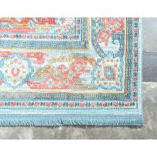 teal and orange runner rug pink vintage medallion oriental area light