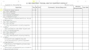 Quality Control Excel Template Project Management Checklist Template Audit Quality Control
