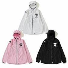 Aape Hoodie Size Chart 2019 S S A Bathing Ape Mens Aape Light Weight Hoodie Jacket 3colors New Ebay