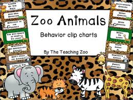 Chart Jungle Zoo Animals Behavior Clip Chart Jungle Safari Theme