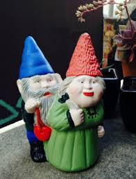 gnome couple garden ornaments yard