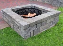 concrete patio with square fire pit. Perfect Fire Square Fire Pit Inside Concrete Patio With