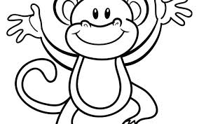 Printable Monkey Free Printable Monkey Coloring Pages For Kids Of