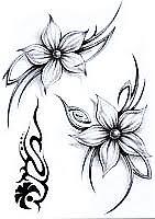 Tetování Kytky