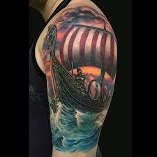 Viking Ship Tattoo By Jamie Lee Parker Návrhy Tetování Návrhy