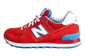 new balance shoes red and blue. new balance wl574yrd yacht club fire red white blue women shoes and l