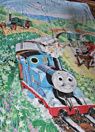 thomas the tank engine 1980s vintage single duvet cover pillowcase by atticbazaar on