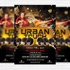 Free Party Flyer Templates Urban Touch Free Club And Party Flyer Psd Template