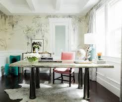 wallpaper for home office. rachel roy home office de gournay wallpaper pink chair okl photo by joe schmelzer u201c for s