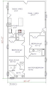 barndominium house plans. 3 bed, 2 bath - 30\u0027x60\u0027 1800 sq. ft. barndominium house plans p