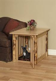 dog kennel end table plans furniture indoor and coffee