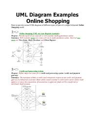 This sample can be used by the experienced engineers use uml diagrams to denote relationships between classes and their instances. Doc Uml Diagram Examples Online Shopping Themba M Cwabeni Academia Edu