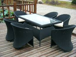 wicker patio dining chairs. Modren Wicker Black Wicker Dining Chairs Perfect Patio Decoration Idea With Glass Table  Also  And Wicker Patio Dining Chairs