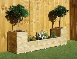 treated decking garden planter bed display