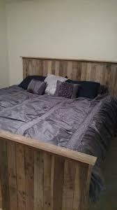 Pallet Bedroom Furniture King Size Pallet Bed With Crate Storage 101 Pallets