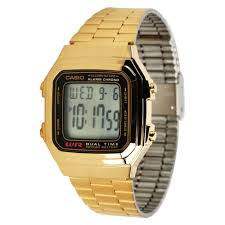 casio gold watch men casio a178wga 1a mens gold stainless steel digital watch 10 year battery a178wg