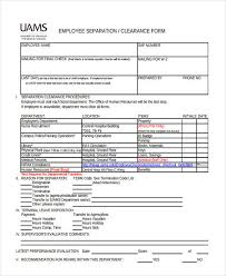 Employee Clearance Form Stunning 44 Clearance Forms In PDF