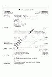 Examples Resumes Resume Simple Objective Inside 87 Easy Resume