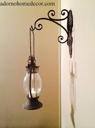 metal lantern wall sconce rustic antique vintage shabby