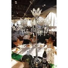 tall wedding candelabra set of 10 wedding crystal acrylic globe in form of a flower candelabra