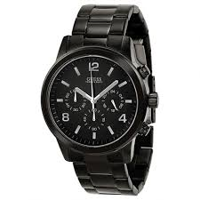 guess bold contemporary waterpro chronograph black men s watch guess bold contemporary waterpro chronograph black men s watch u15061g1