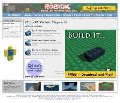 Roblox Create Roblox In 2007 Timeline Web Design Museum