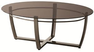 70227 oval coffee table with smoked glass top