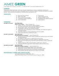 Resume Engine Resumes General Mechanic Resume Objective Diesel Sample Australia 24