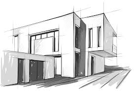 architectural drawings of modern houses.  Modern 3D Perspective House Drawing Pencil Architecture Modern  Inside Architectural Drawings Of Houses E