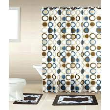 brown and cream shower curtain modern blue and gray shower curtain new brown blue circle piece brown and cream shower curtain