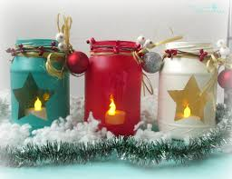 Ideas For Decorating Mason Jars For Christmas DIY Painted Holiday Mason Jars and Handmade Stars The Creative 62