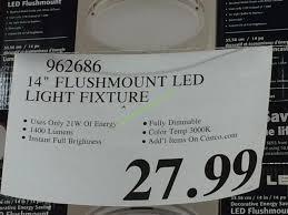 costco 962686 14 flushmount led light fixture tag