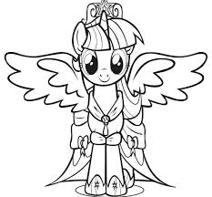 Twilight Sparkle Princess With Wings Coloring Pages Animal