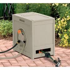 details about suncast hydro power auto retractable garden yard outdoor water hose reel box