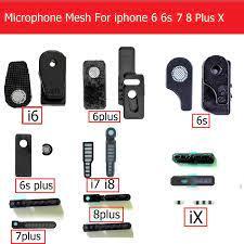 1 set Klebstoff mikrofon Anti Staub Mesh für iPhone 6 6s 7 8 plus X MIC  Staub beweis filter auf die rahmen mit 3M Kleber aufkleber|mic mesh|parts  microphoneiphone 6 plus parts - AliExpress