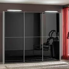 black wood miami 3 black glass 2 panel doors