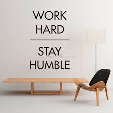 office wall stickers. Work Hard Stay Humble Wall Sticker Office Stickers
