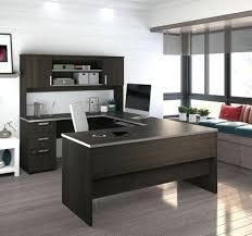 sleek office furniture. home office furniture u shaped desk depot sleek in dark chocolate with nickel accents f