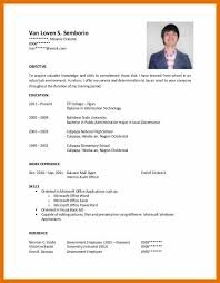 Executive Classic Format Resume Templates Resume Samples For