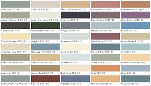 Interior Color Chart Behr Paints Behr Colors Behr Paint Colors Behr