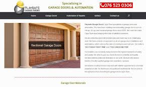 cape town web design playsafe garage doors