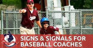 Baseball Signals Chart Baseball Signs And Signals My Youth Baseball