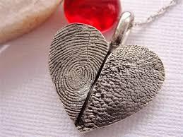 fingerprint heart necklace paw print jewelry sterling silver paw print jewelry
