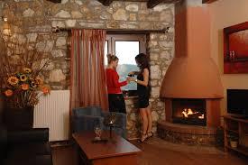 suite 50sqm two rooms with fireplace and two jacuzzi pierion musses hotel palio elatochori hotels rooms accommodation